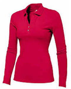 Womens Long Sleeve Polo Shirt